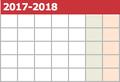 2017-2018シーズン カレンダー公開