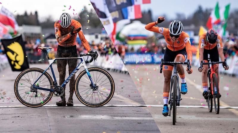 シクロクロス世界選手権男女エリート ダブル制覇記念。<br>シクロクロスバイク「インフライト」期間限定配送料無料キャンペーンを実施