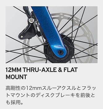 12MM THRU-AXLE & FLAT MOUNT