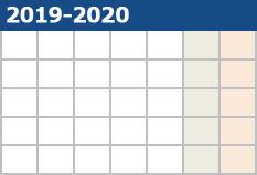 2019-2020シーズン カレンダー公開