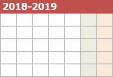 2018-2019シーズン カレンダー公開